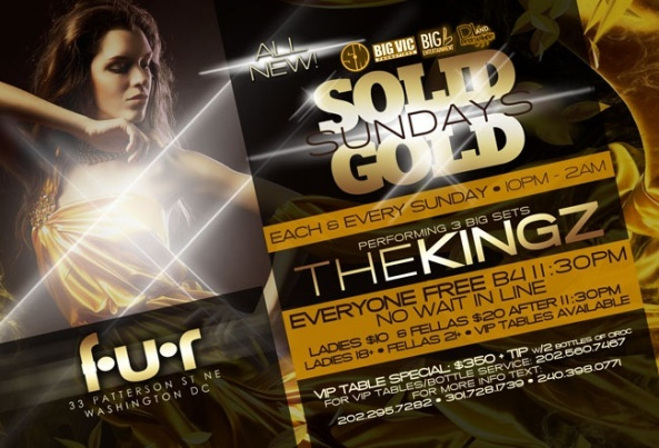 All new Solid Gold Sundays @ Fur featuring The KIngz