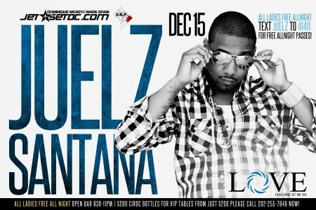 Juelz Santana Live @ Love this Sat. Table or bottle service 305-321-5847