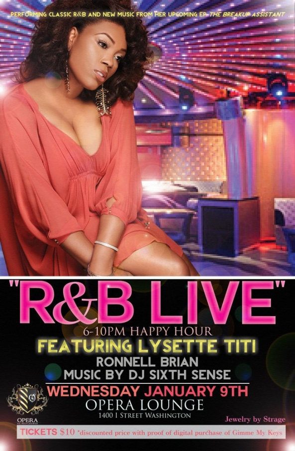 Wednesday Jan. 9th R&B Live featuring Lysette TiTi @ Opera Lounge